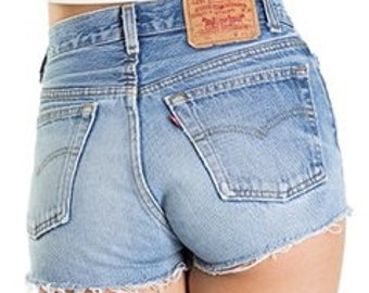 Levis High Waisted Denim Shorts: All Sizes & Washes-FREE SHIP