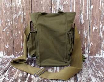 Vintage Military Cross body Bag Soviet Army Field Bag Soldier Gas Mask Bag Retro Accessory khaki military accessories USSR 80s free shipping