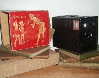 Vintage Ansco Cadet B 2 Camera in Original Box (Mostly)