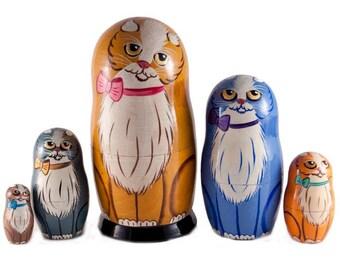 Nesting Dolls Cat russian matryoshka doll cats - kod46p