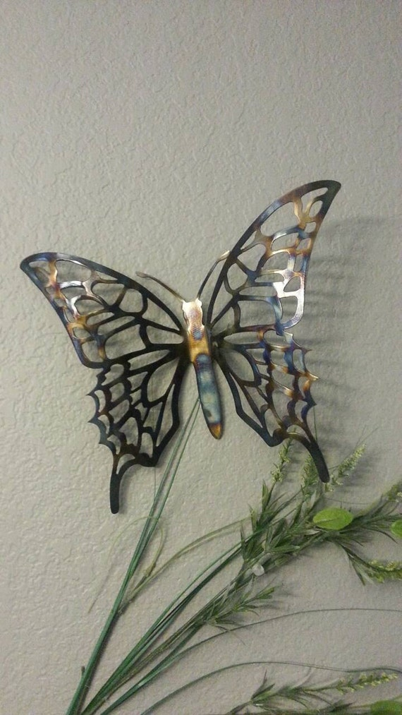 metal butterfly metal art butterfly home decor metal art. Black Bedroom Furniture Sets. Home Design Ideas