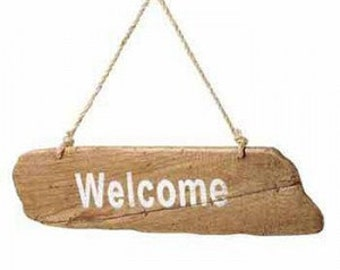 Handmade Wooden Welcome Hanging Sign. 620695
