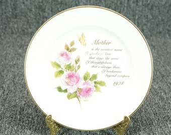 "Designers Collection ""A Mother's Remembrance""  Porcelain 7 1/2""  Plate C. 1978"