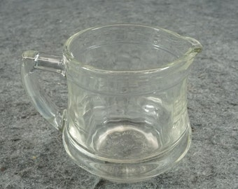 Vintage Kellogs Correct Cereal Creamer Pressed Glass C. 1960s