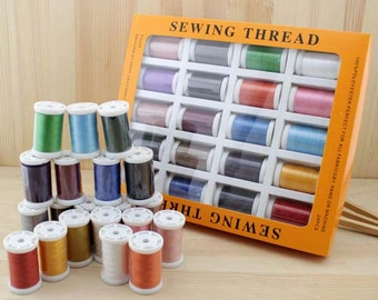 1 Set of 20 Spools Quality Polyester Sewing Thread /40S/2