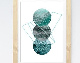 Geometric Print, Abstract Art, Marble Print, Minimalist Art, Scandinavian Print, Mid Century Modern Print, Abstract Poster, Minimal Print