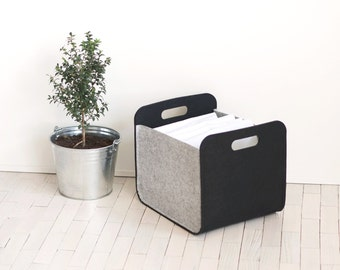 Felt Storage Bin  / Felt Basket /  Household Storage / Modern Storage Basket / Color  Storage / Felt box