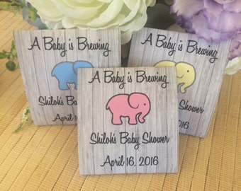 Personalized Tea Packets, baby shower tea favors, baby shower tea party favors, elephant baby shower favors, elephant tea packets