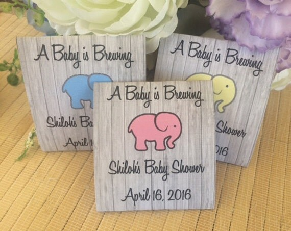 40 Personalized Tea Packets, baby shower tea favors, baby shower tea party favors, elephant baby shower favors, elephant tea packets