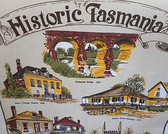 "Vintage Tea Towel ~ ""Historic Tasmania"""