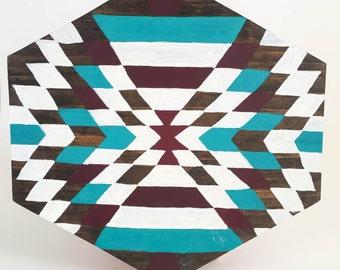 Navajo Hexagon Wood Sign