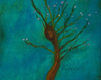 Tamlorn's Tree, Giclee Art Print, ready for 12x16 frame