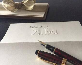 Custom correspondence paper