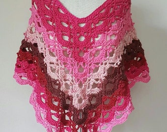 Gemstone Lace Poncho *PDF DOWNLOAD ONLY* Instant Download