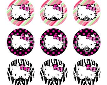 Mustache Hello Kitty