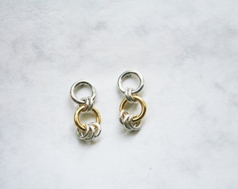 YORU - gold plated sterling silver earrings