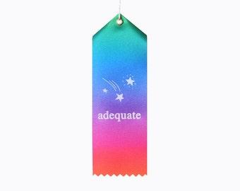 Adequate Award Ribbon