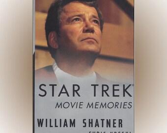 Star Trek Movie Memories 1994 First Edition HC William Shatner