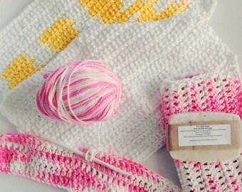 100% Cotton, crocheted washcloths, handmade washcloths, cotton bath cloths, exfoliating cloths, scrub cloths