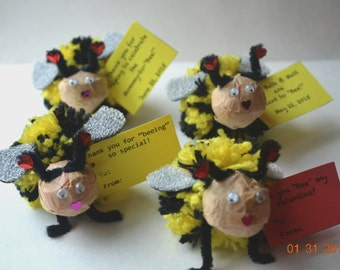 Bumblebee Valentines, Class Treat, Bee wedding favors, Ba Bee Shower favors, Small thank you gift, honey shower, Easter Gift