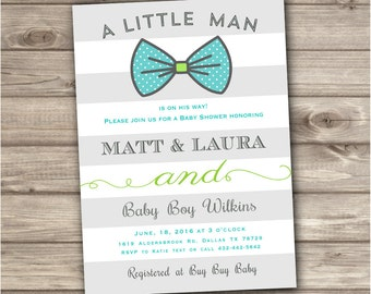 Boy Baby Shower Invitations NV716