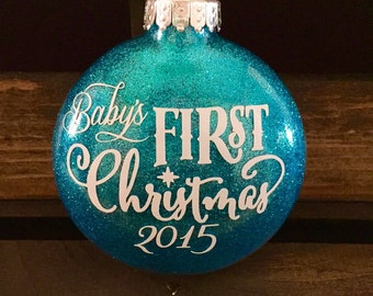 Babys first christmas ornament, personalized christmas ornament