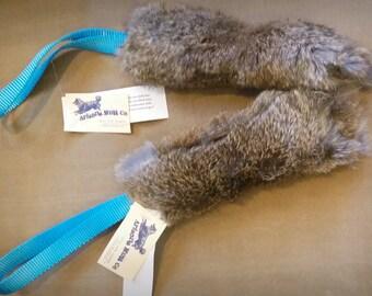 Bunny Fur Dog Tug Toy