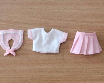 3-piece sailor uniform for Lati Yellow, PukiFee or similar-sized dolls.
