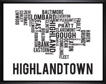 Highlandtown Baltimore Neighborhood Street Print