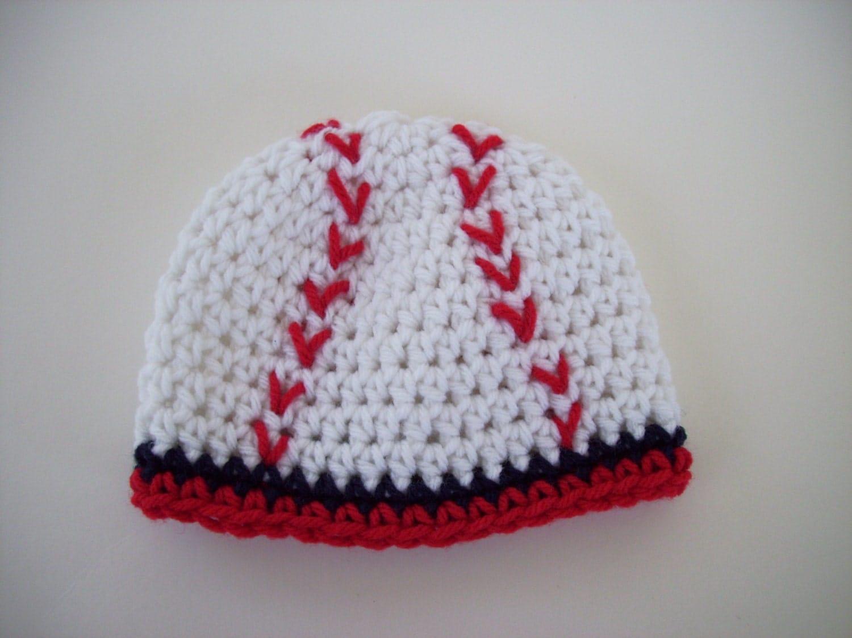 baseball hat crochet baby hat baseball beanie by carolinahats