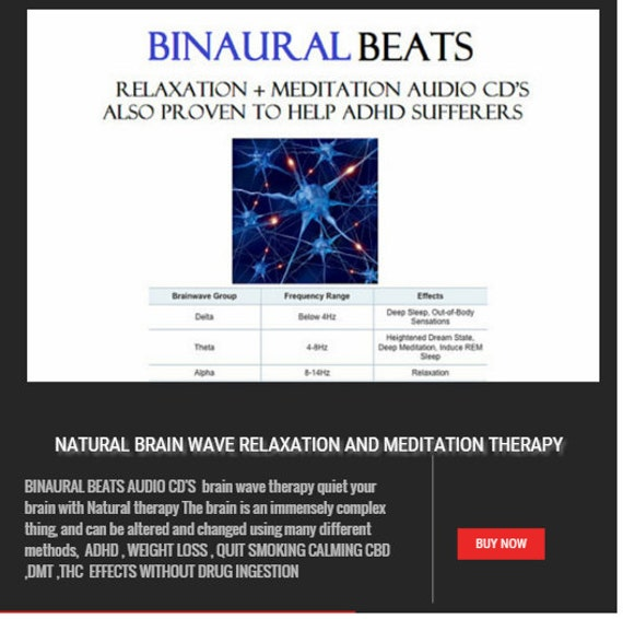 BINAURAL BEATS cd's brain wave therapy DIET adhd quit smoking erectile dysfunction Loose weight Fast Natural therapy