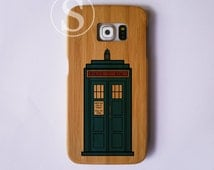 Doctor Who phone case, Wood Samsung S7 case, Tardis galaxy S6 case, Wood galaxy S5 case, Wood galaxy S4 case, Tardis Doctor Who, SD-32