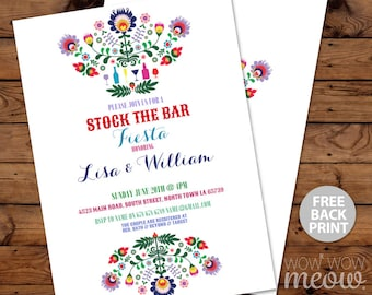 Stock The Bar Fiesta Invitations Engagement Party Invite Couples Shower Mexican Cinco De May INSTANT DOWNLOAD Personalize Editable Printable