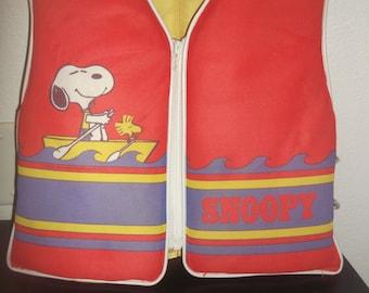 Vintage Snoopy Stearns Youth Life Vest NICE!