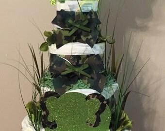 Elephant (army themed) diaper cake