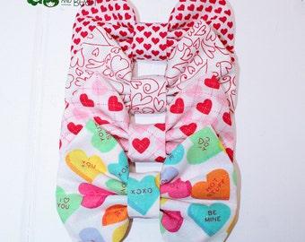 Valentine's Day Bow - Valentines Day Bow - Valentine's Day Clip - Valentine's Day Bow Tie