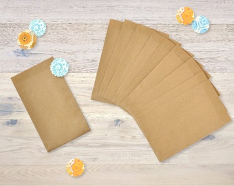 10 Small Kraft Paper Bags Recycling