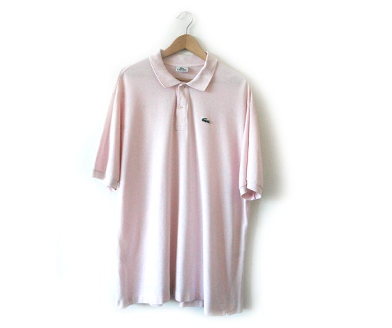 Lacoste baby pink polo