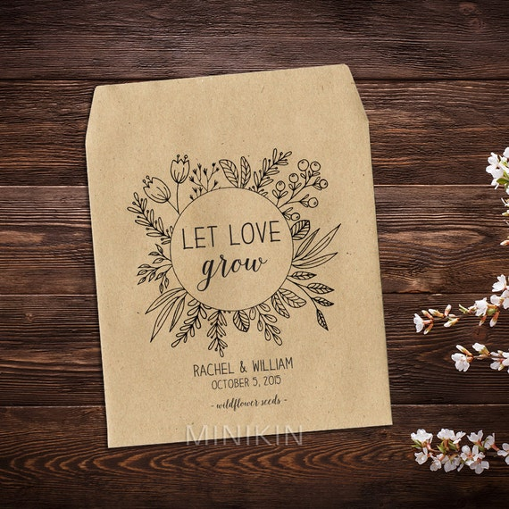 Wedding Seed Packets Rustic Wedding Favor Seed Packet Favor