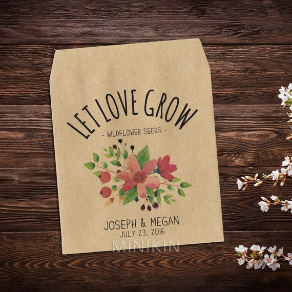 Flower Seed Wedding Favours: Wedding Seed Packets Seed Packet Favor Flower Seed Packet