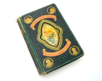 Tennyson's Poetical Works, Landscape Series of Poets, Gall & Inglis, Illustrated Antique Poetry Book, circa 1870s