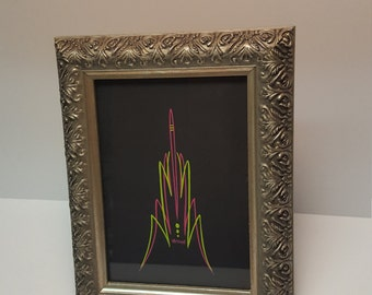 Framed Pinstriping Art