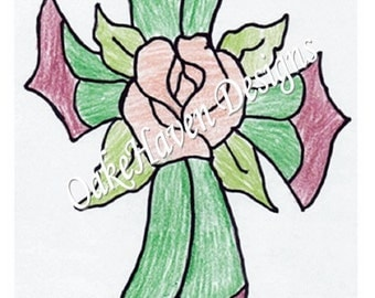 Rose within a Cross