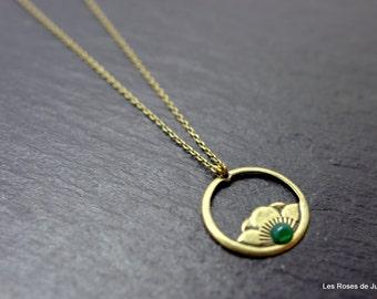 Necklace art deco Peony