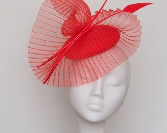 Red Fascinator Headpiece