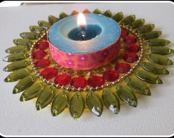 Floating Kundan Diya/Floating Tea Light Holder/Diwali Diya