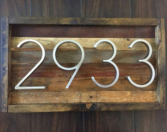 Reclaimed Wood Address Plaque, Free Shipping!