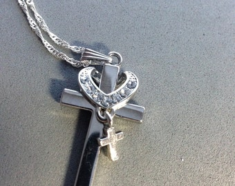 Sale!!!!! Tiny cross pendant necklace...