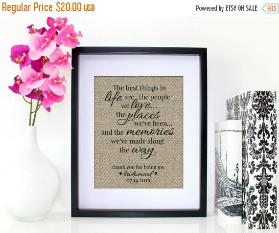 Bridesmaid Gift Maid of Honor Gift Wedding Gift for Sister ...