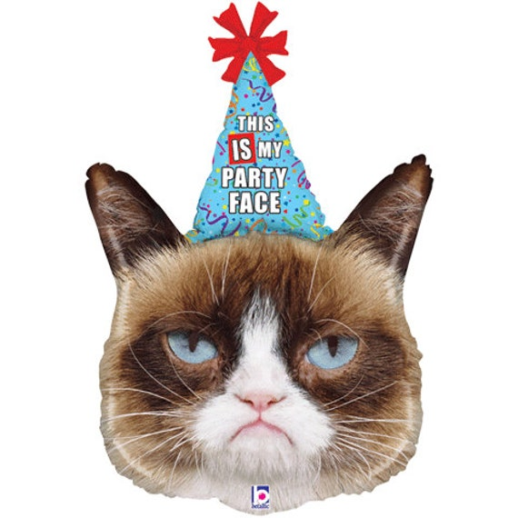 "Grumpy Cat Balloon, Cat Balloons, 36"", Grumpy Cat, This Is My Party ..."